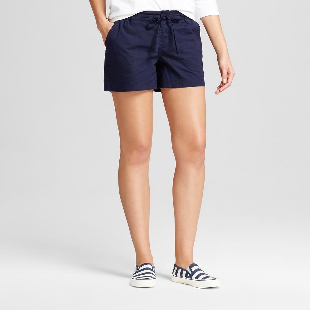 Womens 4 Easy Waist Shorts Navy (Blue) XS - Merona