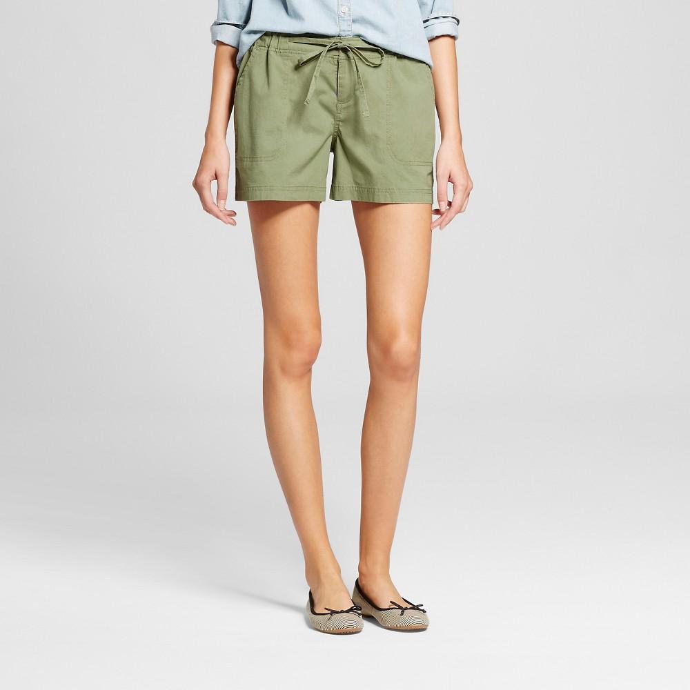 Womens 4 Easy Waist Shorts Green XS - Merona