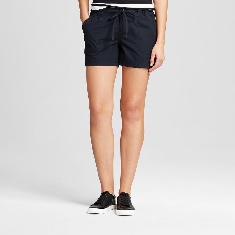 Womens 4 Easy Waist Shorts Black S - Merona