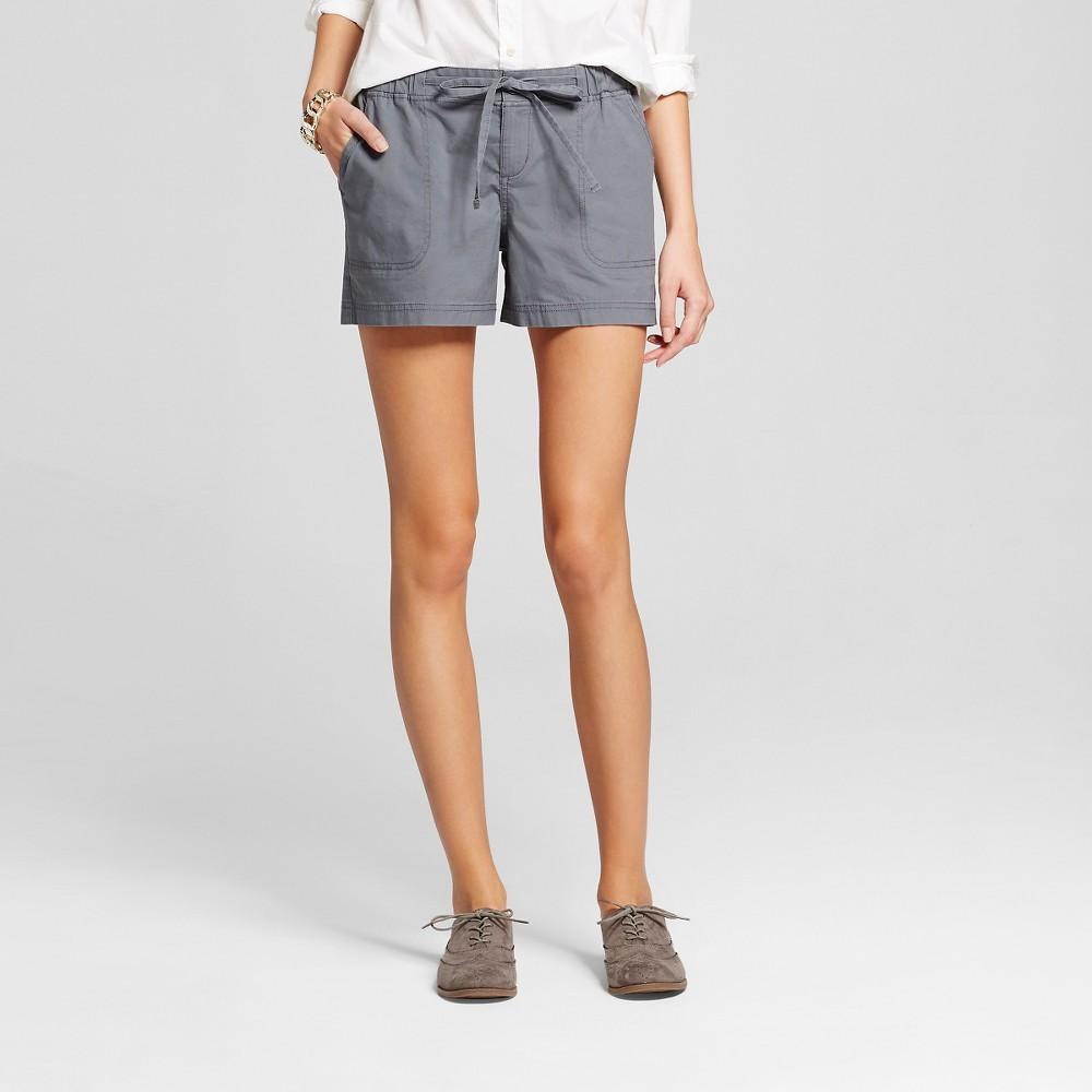 Womens 4 Easy Waist Shorts Gray M - Merona