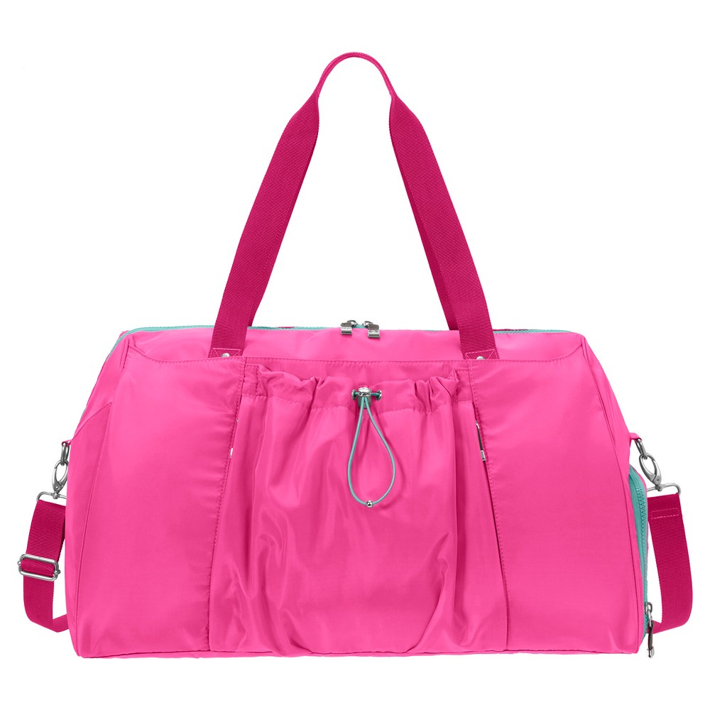BG by Baggallini Step To It Yoga Duffle - Magenta (Pink)