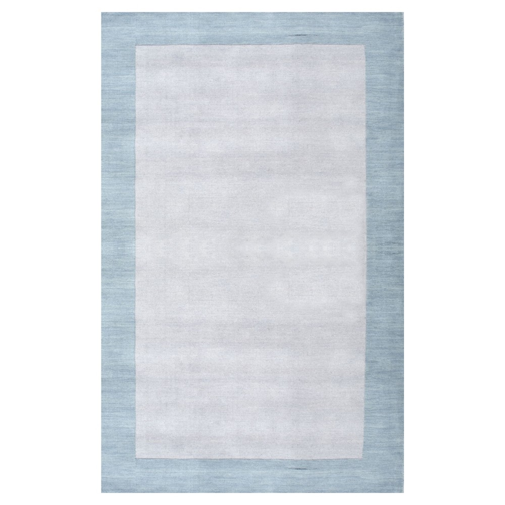 Blue Solid Tufted Area Rug – (8'x11′) – nuLOOM, Air Blue