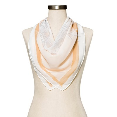 Women's Floral Fashion Scarf - A New Day™ Cream