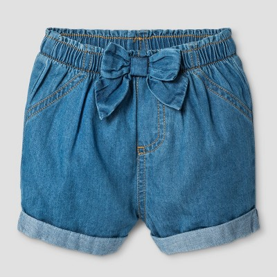 Baby Girls' Unlined Denim Shorts - Cat & Jack™ Medium Wash 3-6 Months