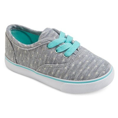 Toddler Girls' Mel Lace Up Canvas Sneakers Cat & Jack™ - Gray 5