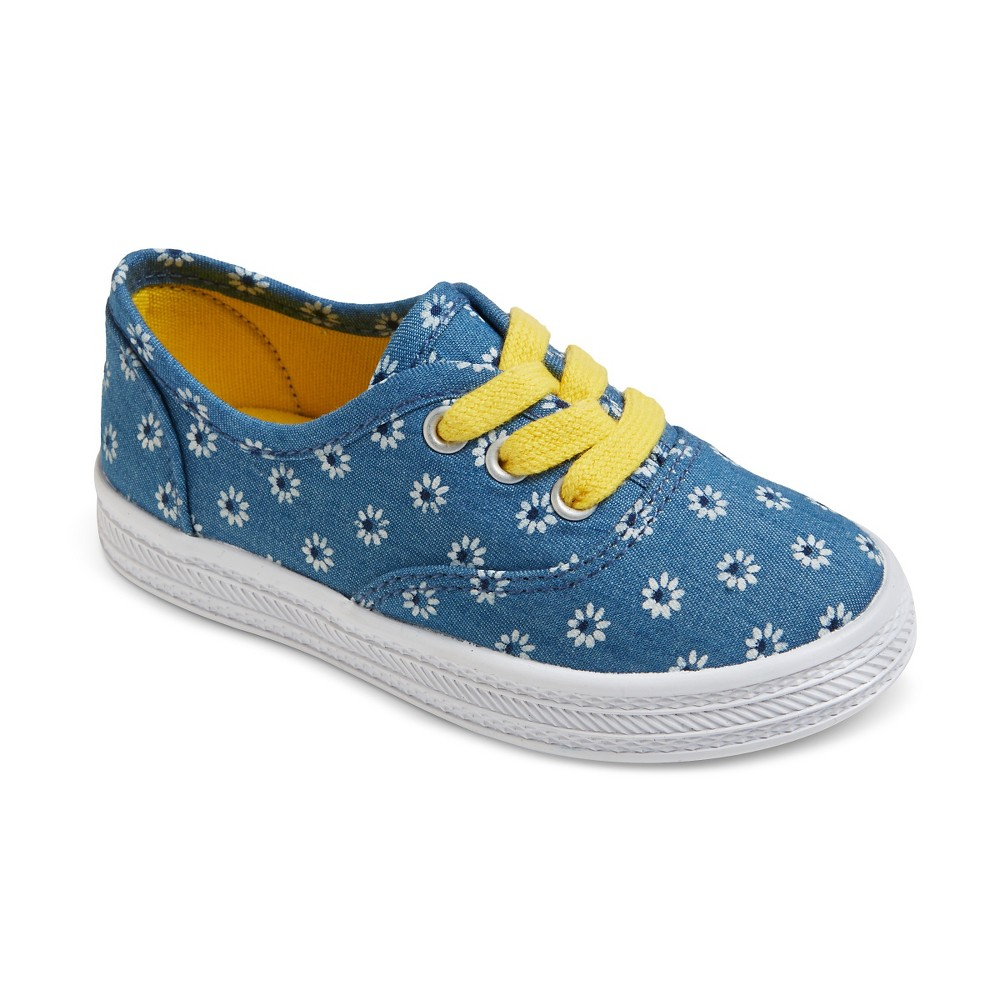 Toddler Girls Mel Lace Up Canvas Sneakers Cat & Jack - Blue 5