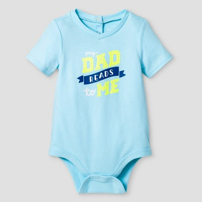 Baby Boys' Dad Reads to Me Bodysuit Cat & Jack™ - Turquoise 3-6 Months