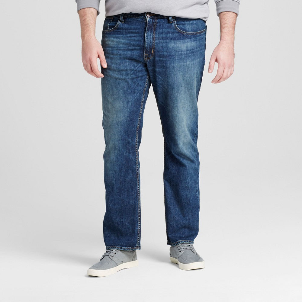 Mens Big & Tall Straight Fit Jeans - Mossimo Supply Co. Medium Wash 46x32, Blue
