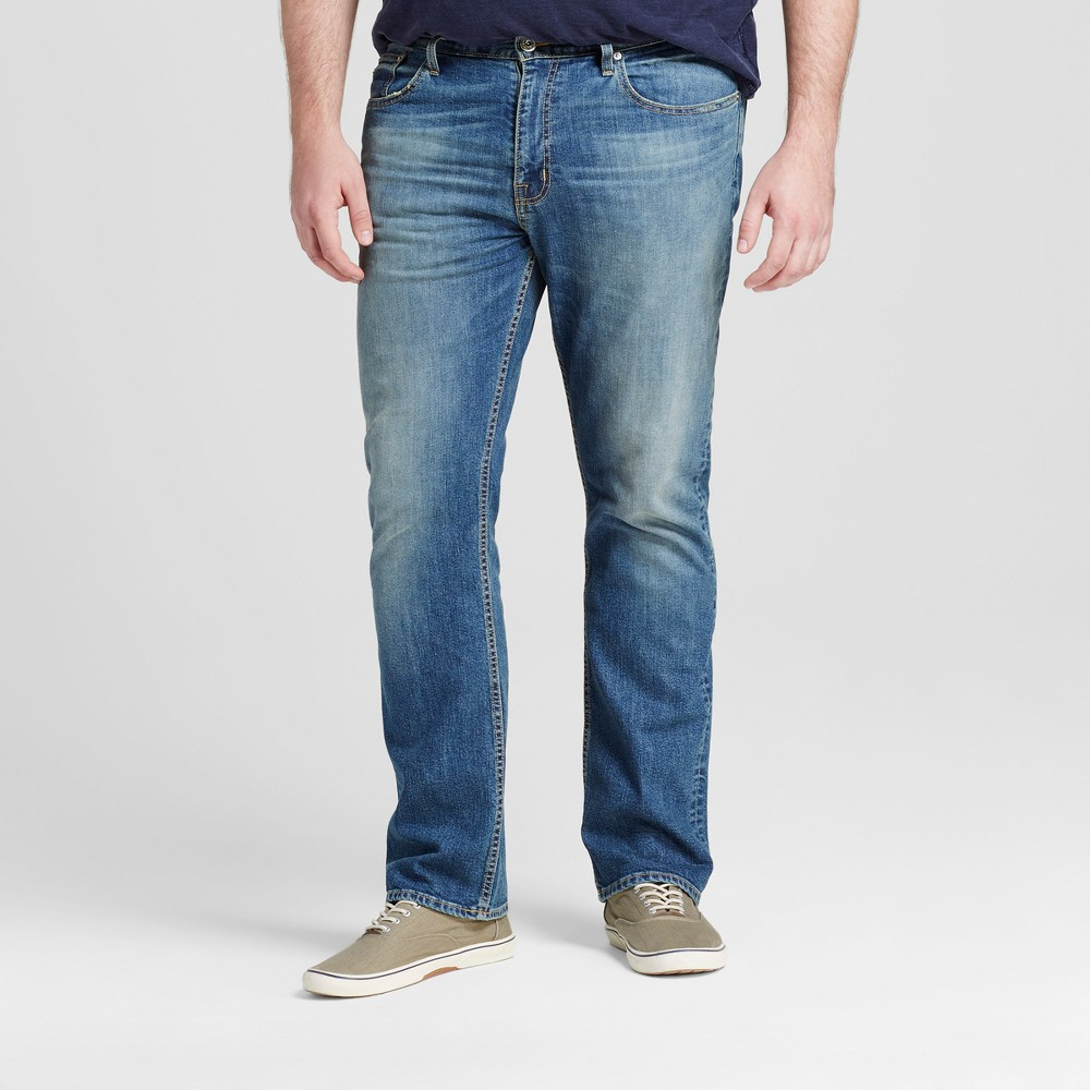 Mens Big & Tall Straight Fit Jeans - Mossimo Supply Co. Medium Vintage 36x36, Blue