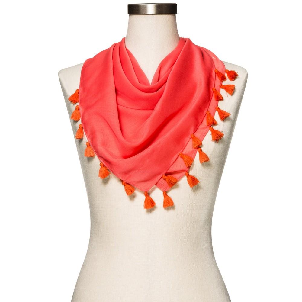 Womens Bright Orange Fashion Scarf - Merona