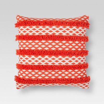 Orange Tufted Global Stripe Throw Pillow - Threshold™