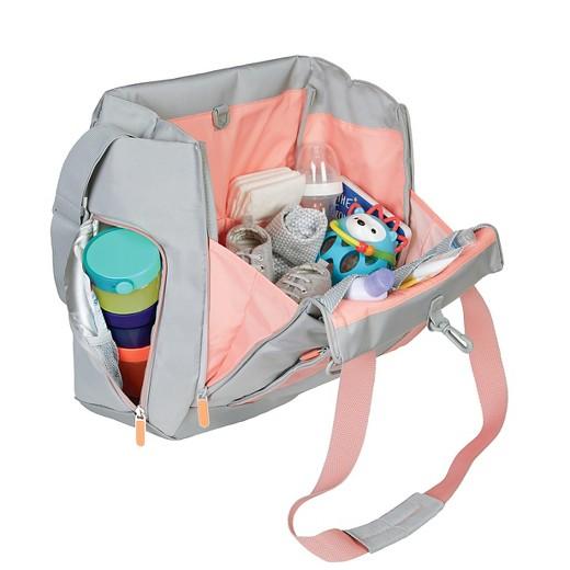 skip hop fit all access diaper bag platinum coral target. Black Bedroom Furniture Sets. Home Design Ideas