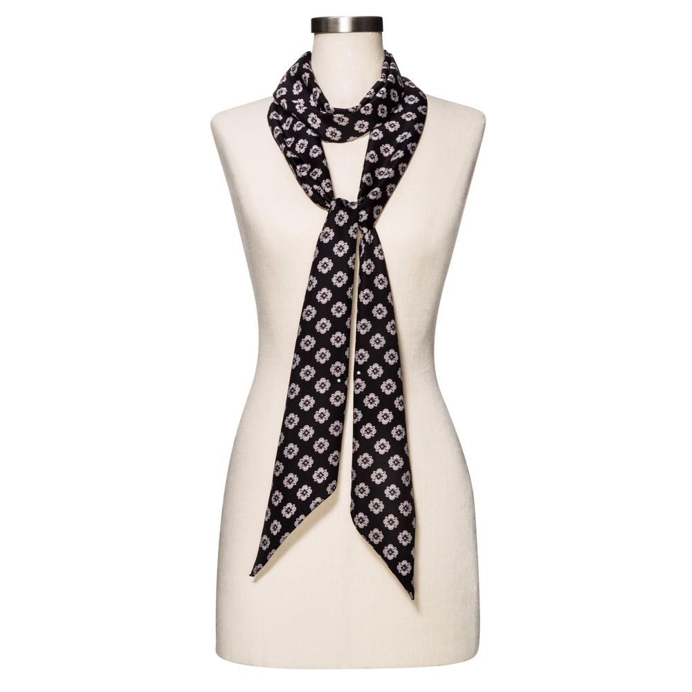 Womens Geometric Black Fashion Scarf - Merona