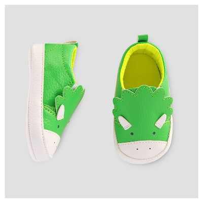 Baby Boys' Dino Slip on Sneaker -Cat & Jack™ Green 6-12M