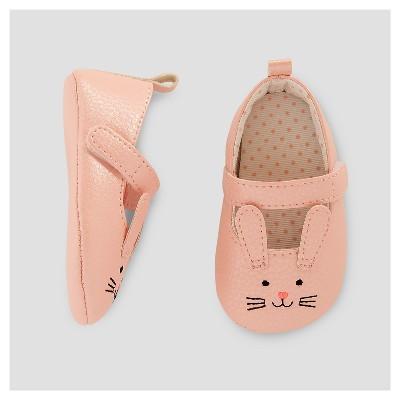Baby Girls' Metallic Critter Mary Jane -Cat & Jack™ Pink 0-3M