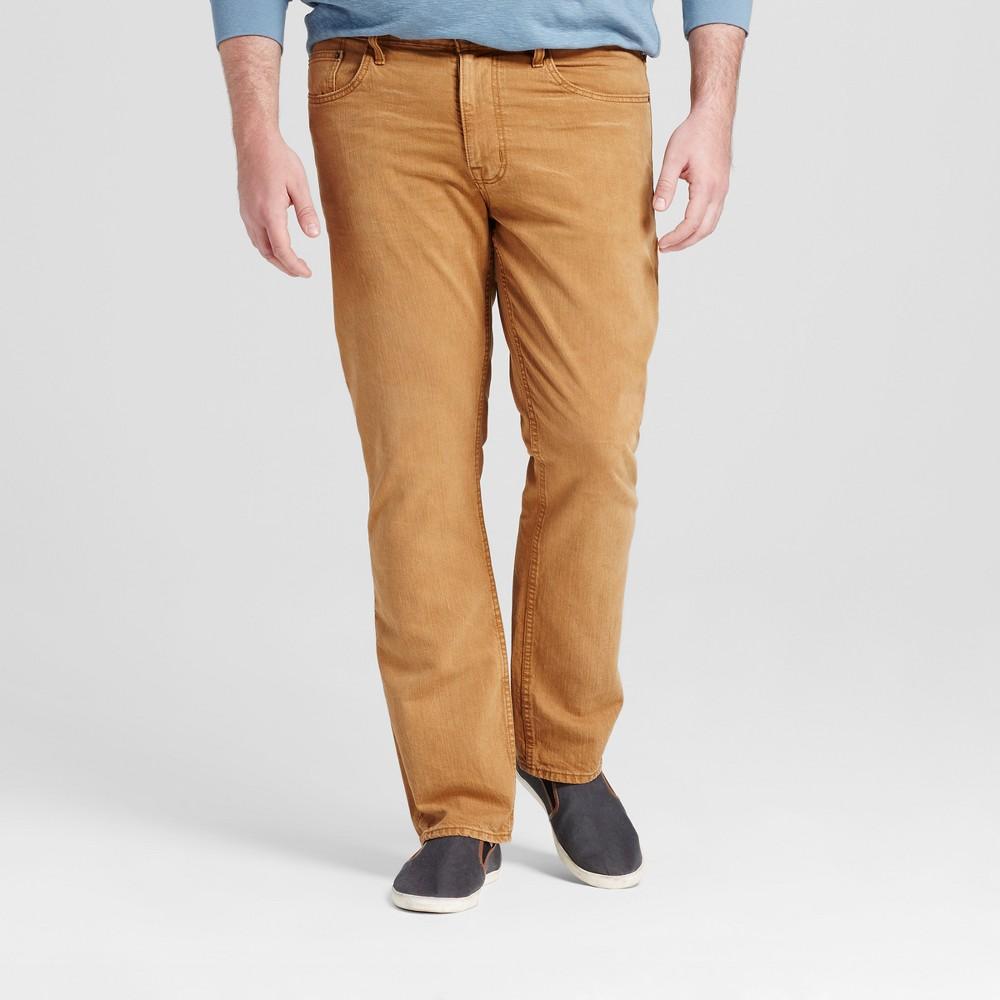 Mens Big & Tall Slim Straight Fit Jeans - Mossimo Supply Co. Khaki 33x36, Brown