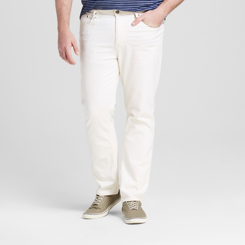 Mens Big & Tall Slim Straight Fit Jeans - Mossimo Supply Co. Natural 44x34, White