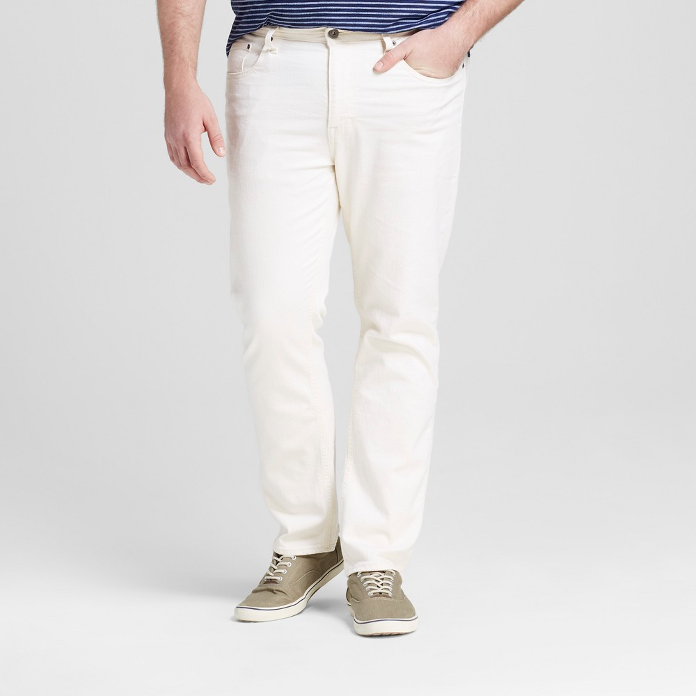Mens Big & Tall Slim Straight Fit Jeans - Mossimo Supply Co. Natural 52x30, White