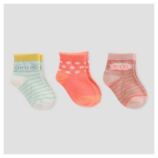 Baby Girls Fashion Crew Sock - Cat & Jack™ 6-12M