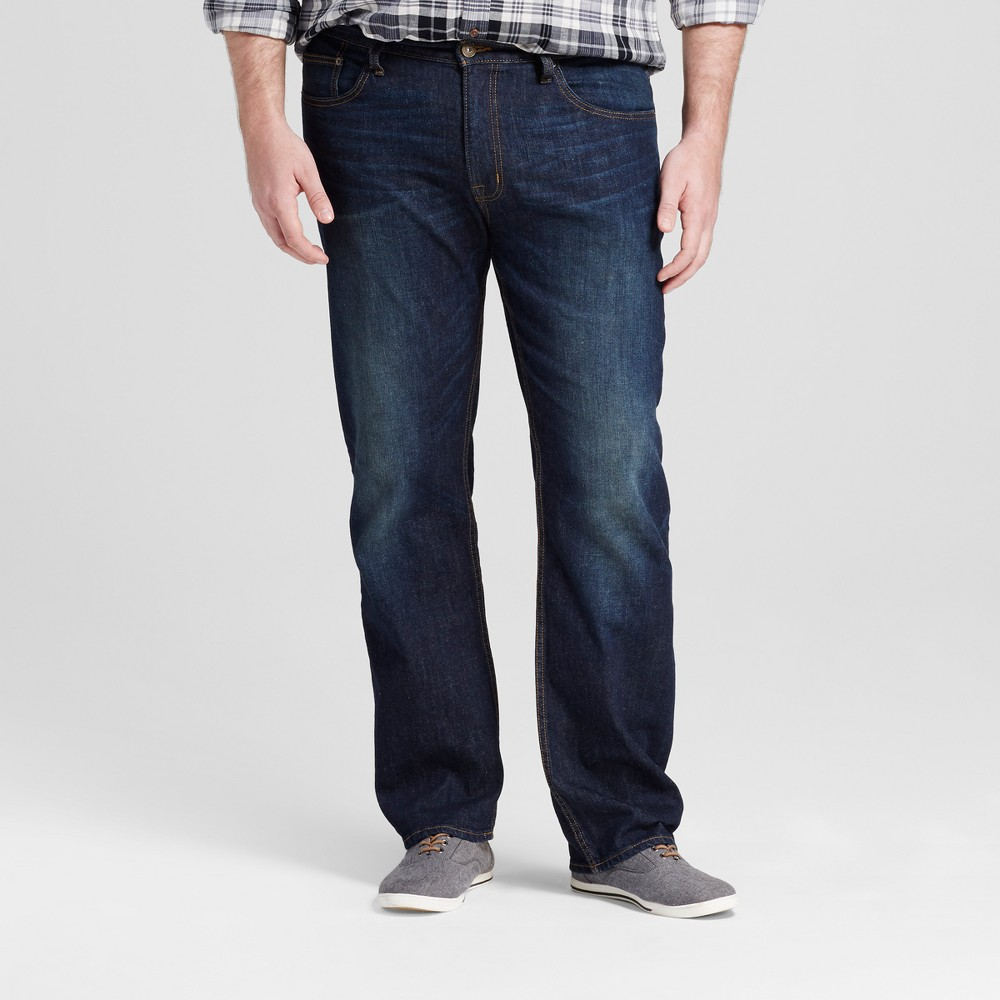 Mens Big & Tall Straight Fit Jeans - Mossimo Supply Co. Dark Vintage 34x36, Blue