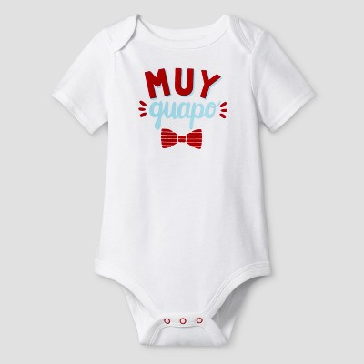 Baby Boys' Muy Guapo Bodysuit Cat & Jack™ - White 3-6 Months