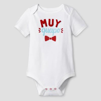 Baby Boys' Muy Guapo Bodysuit Cat & Jack™ - White 12 Months
