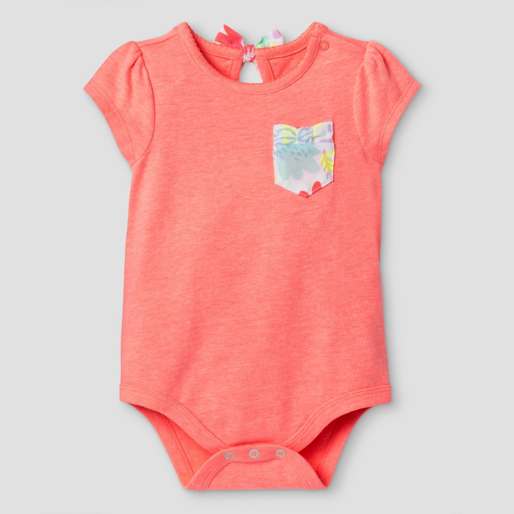 Baby Girls' Back Pocket Bodysuit – Baby Cat & Jack Coral 24 Months, Infant Girl's, Size: 24 M, Yellow