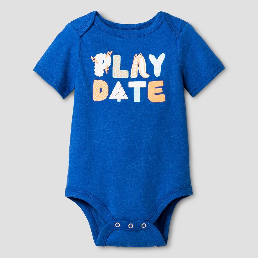 Baby Boys Bodysuit - Cat & Jack Blue 3-6 Months, Size: 3-6 M