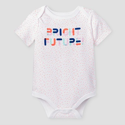Baby Girls' Bright Future Bodysuit - Cat & Jack™ White 12 Months
