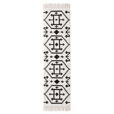 Black/White Kilim Accent Runner Rug (1'10 x7')- Nate Berkus™