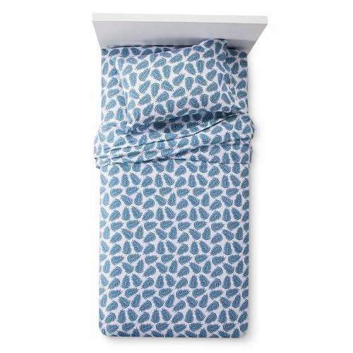 Palm Leaves Sheet Set (Queen) Blue - Pillowfort