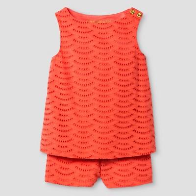 Baby Girls' Top And Bottom Set Genuine Kids™ from OshKosh® Cabana Orange 12M