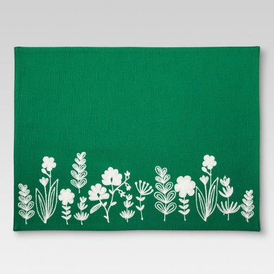 Green Floral Kitchen Textiles Placemat - Threshold™