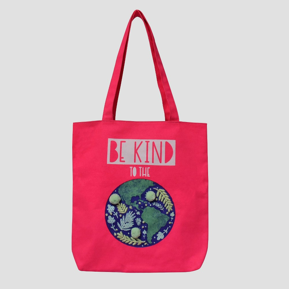 Girls Earth Tote Bag - Cat & Jack Pink One Size
