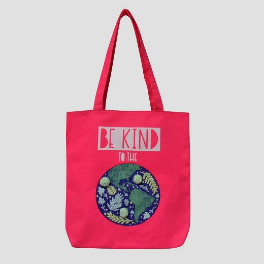Girls' Earth Tote Bag - Cat & Jack™ Pink One Size : Target