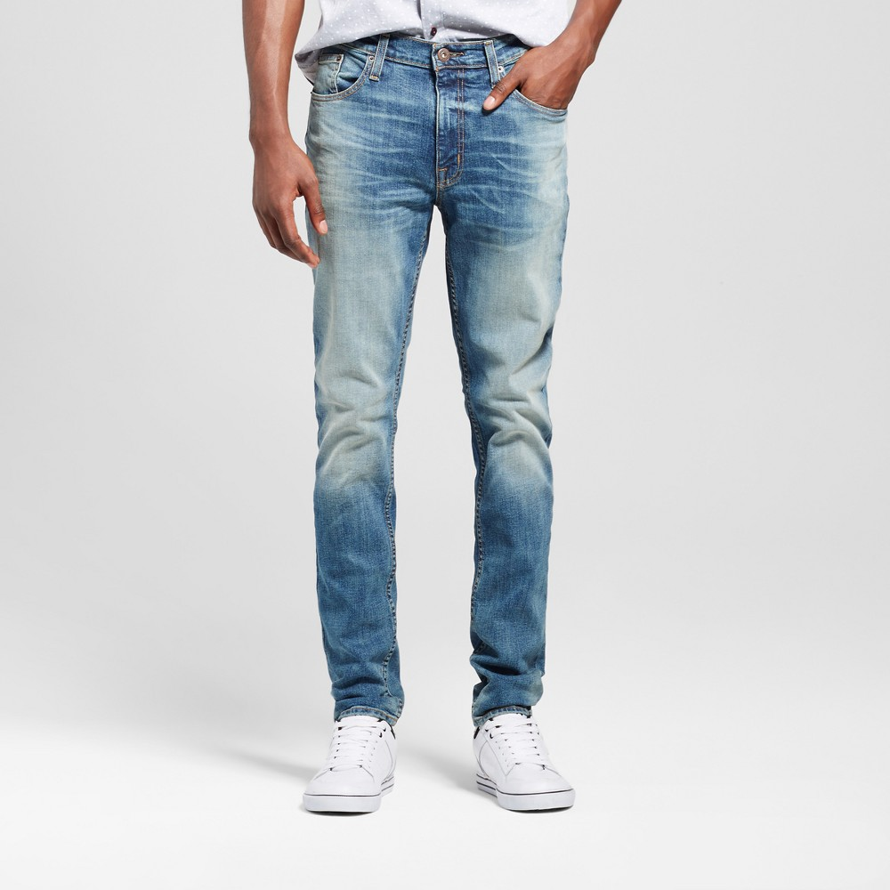 Mens Skinny Fit Jeans - Mossimo Supply Co. Medium Wash 36x34, Blue