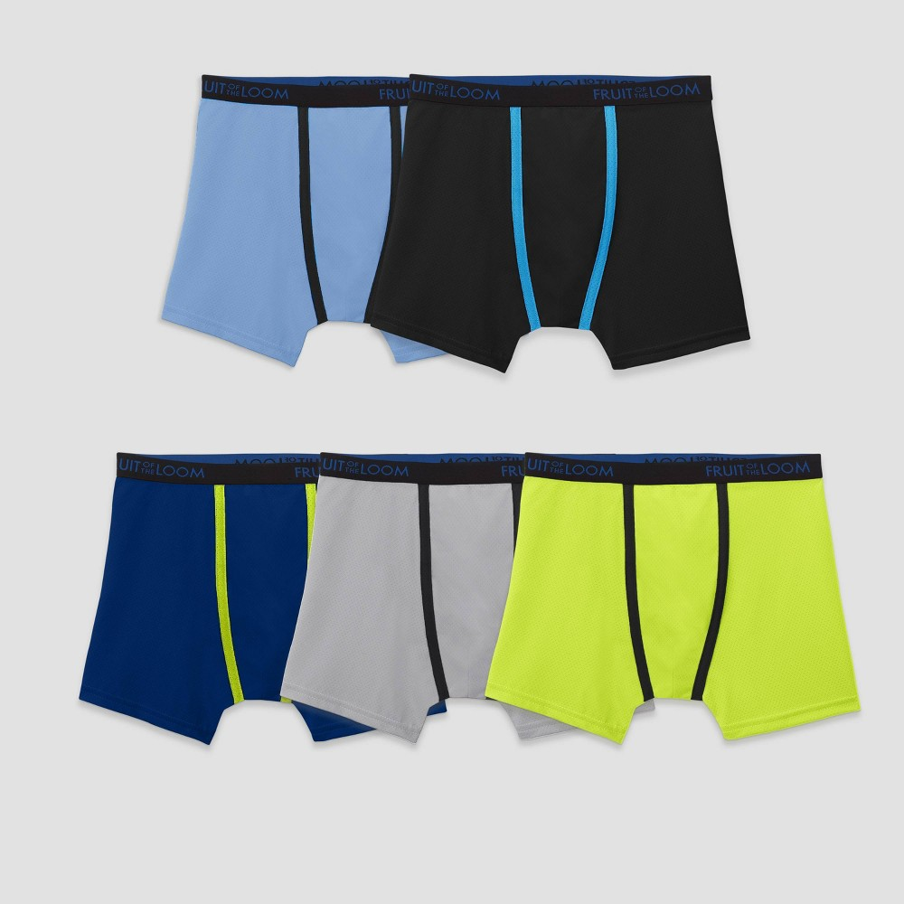 Boys Fruit of the Loom Boxer Briefs - M(10-12), Multicolored
