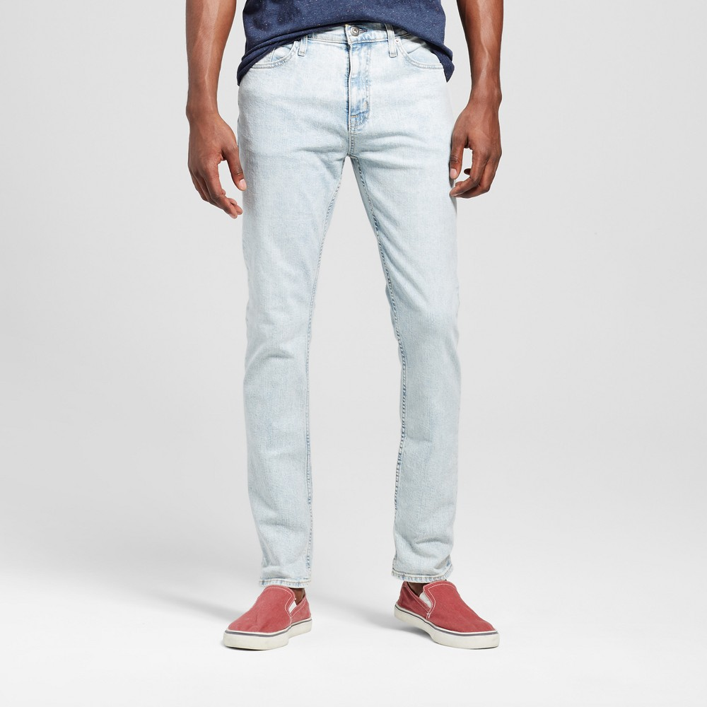 Mens Skinny Fit Jeans - Mossimo Supply Co. Super Light Wash 36x34, Blue
