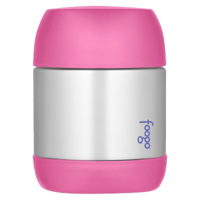 Thermos Foogo Vacuum Insulated Stainless Steel Food Jar, Pink – 12-Ounce
