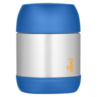 Thermos Foogo Vacuum Insulated Stainless Steel Food Jar, Blue – 12-Ounce