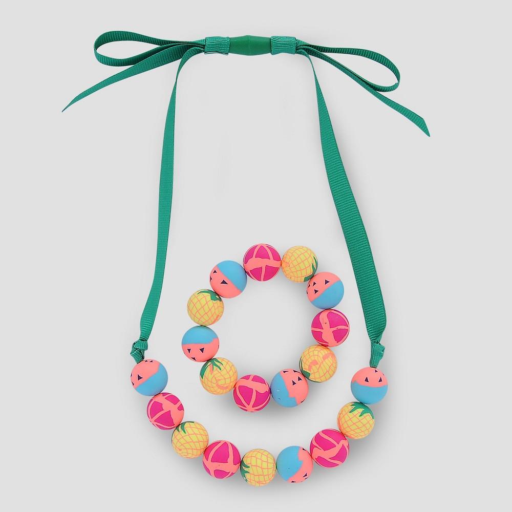 Toddler Girls Beaded Necklace and Bracelet Set - Cat & Jack, Multi-Colored