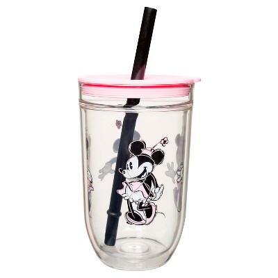 Disney® Minnie Mouse 15oz Tumbler with Lid and Straw Pink