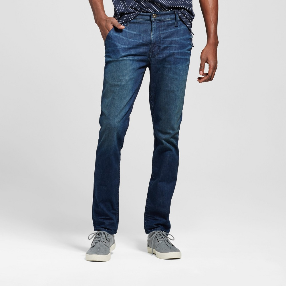 Mens Skinny Fit Jeans - Mossimo Supply Co. Dark Wash 34x30, Blue