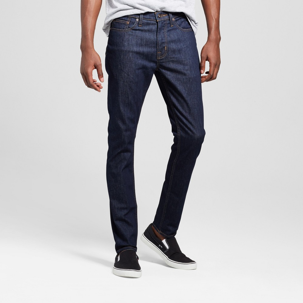 Mens Skinny Fit Jeans - Mossimo Supply Co. Dark Rinse Wash 36x30, Blue