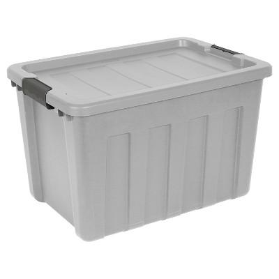 Sterilite® Ultra Latch Storage Bin Gray 25gal