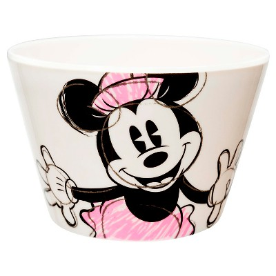 Disney® Minnie Mouse Small 11oz Melamine Bowl Pink and White