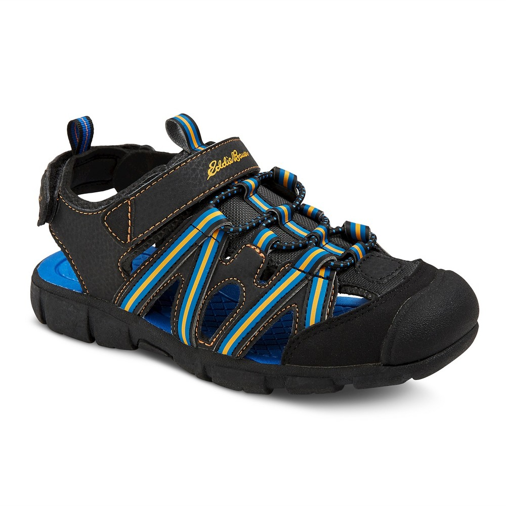 Boys Eddie Bauer Morgan Fisherman Sandals - Black 1