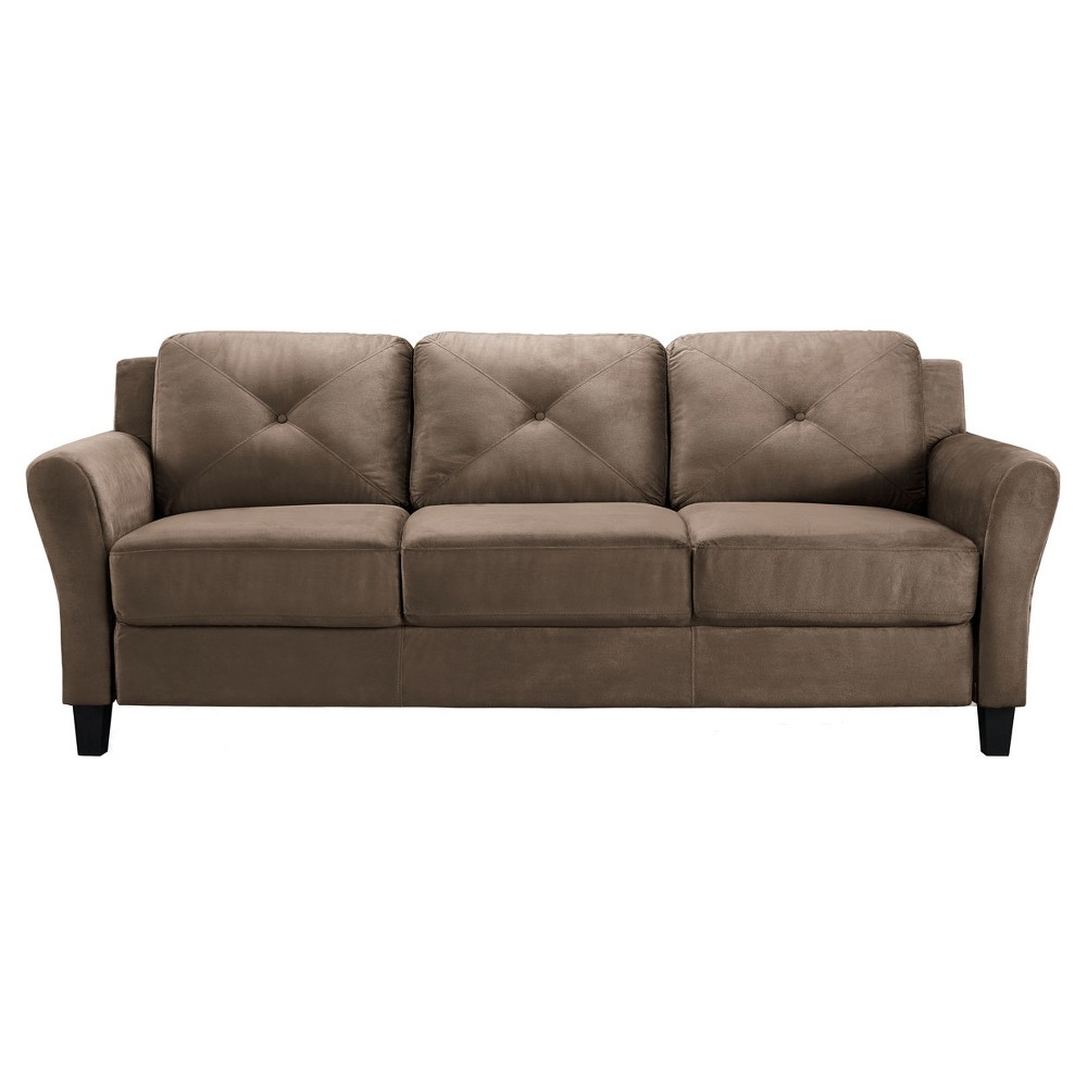 Lifestyle Astaire Rolled Sofa - Brown