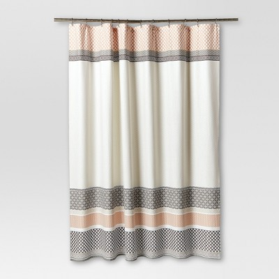 Pattern Stripe Shower Curtain (72 x72 )Gray - Threshold™
