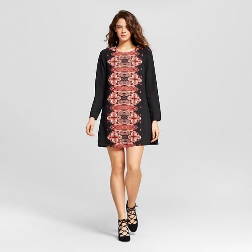 Women's Placed-print Shift Dress Tar M - Xhilaration (Juniors')
